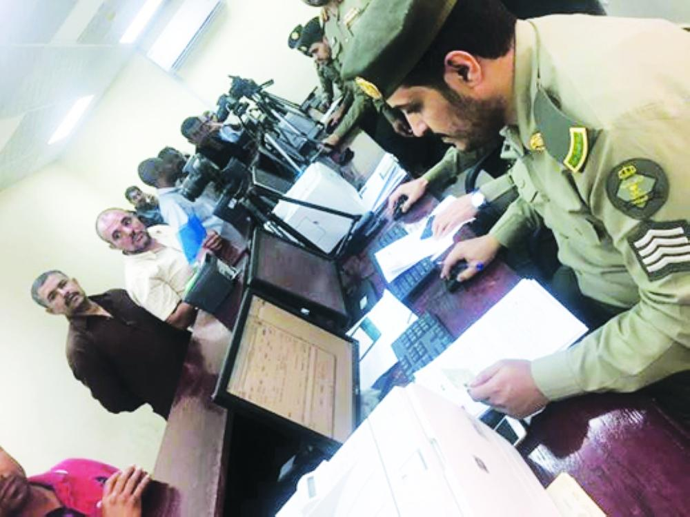 Residency law violators visit passport offices in Madinah province to complete their departure procedures before the June 25 deadline. — Courtesy photo