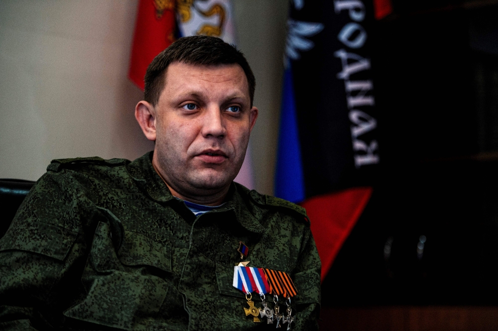 Alexander Zakharchenko, head of the self-proclaimed Donetsk People's Republic (DNR), speaks during an interview at his office in the eastern Ukrainian city of Donetsk in this April 8, 2015 file photo. — AFP