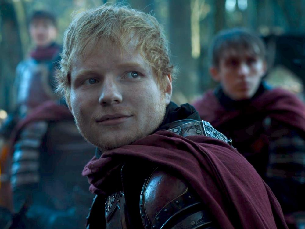 Ed Sheeran in a scene from