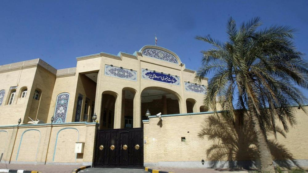 A picture taken on March 31, 2011, shows the Iranian Embassy in Kuwait City. — AFP