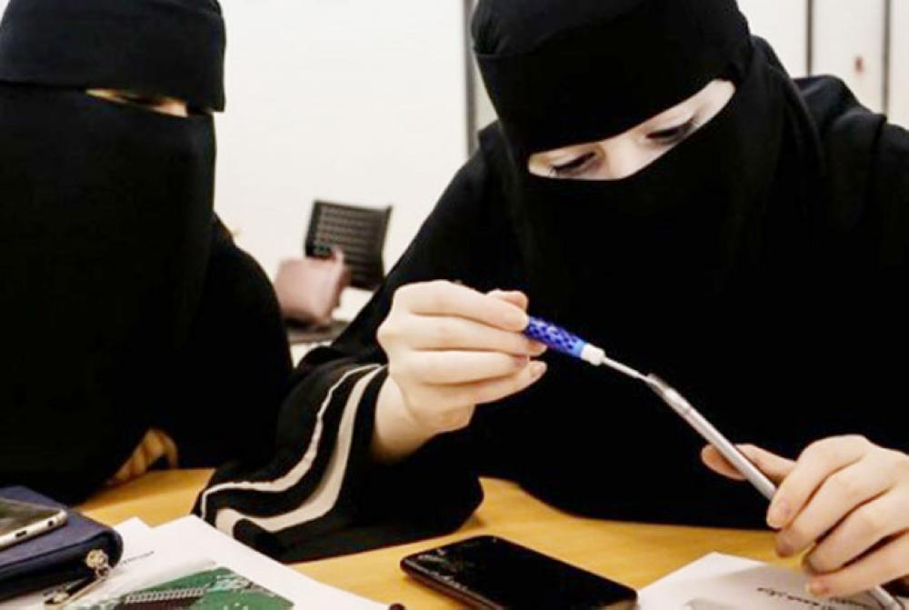 The Technical and Vocational Training Corporation (TVTC) has trained thousands of Saudi women in mobile phone repair and maintenance after the sector was 100% Saudized. — File photo