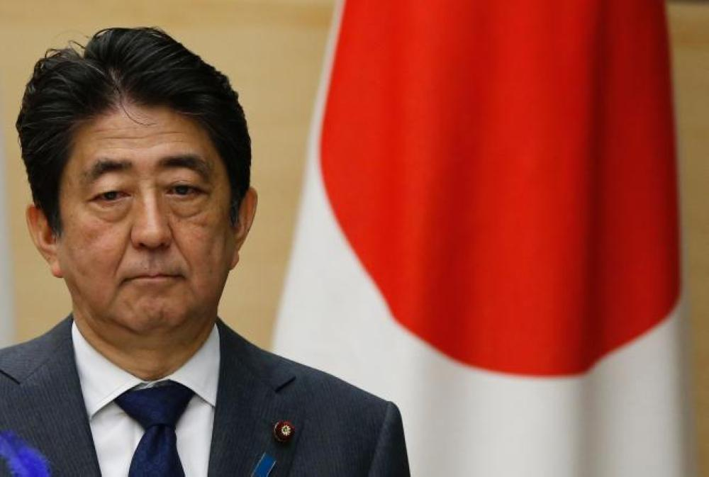 Japanese Prime Minister Shinzo Abe attends a press conference at his official residence in Tokyo in this file photo. — AFP