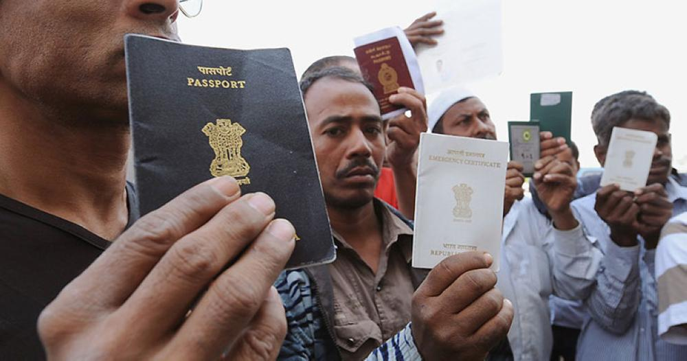 A report in the Times of India, quoted official figures as showing that 775,845 Indian workers immigrated to the GCC countries in 2014 in comparison to 507,296 in 2016. — File photo
