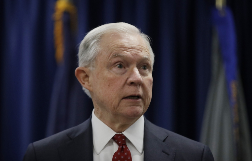 Attorney General Jeff Sessions speaks in Philadelphia in this July 21, 2017 file photo. — AP
