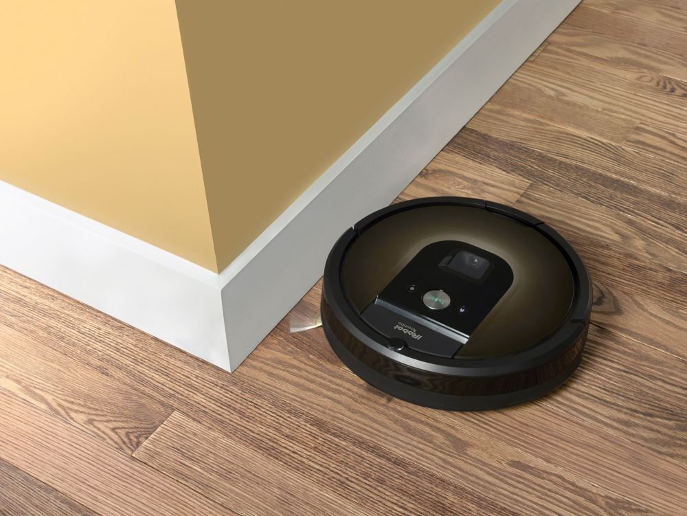 An iRobot Roomba 980 is seen in this undated handout photo. - Reuters