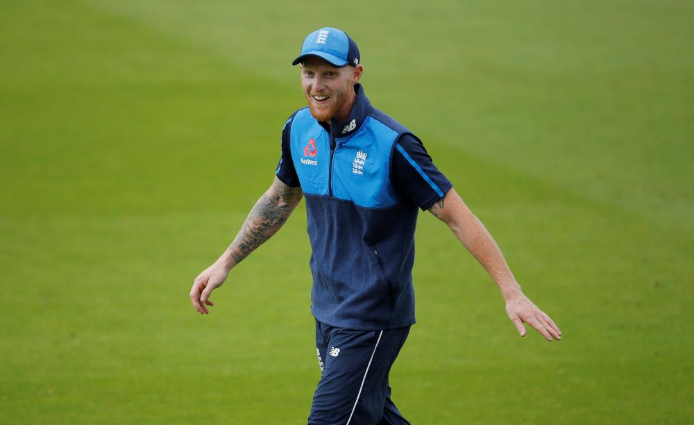 England's Ben Stokes works out during nets in London. — Reuters