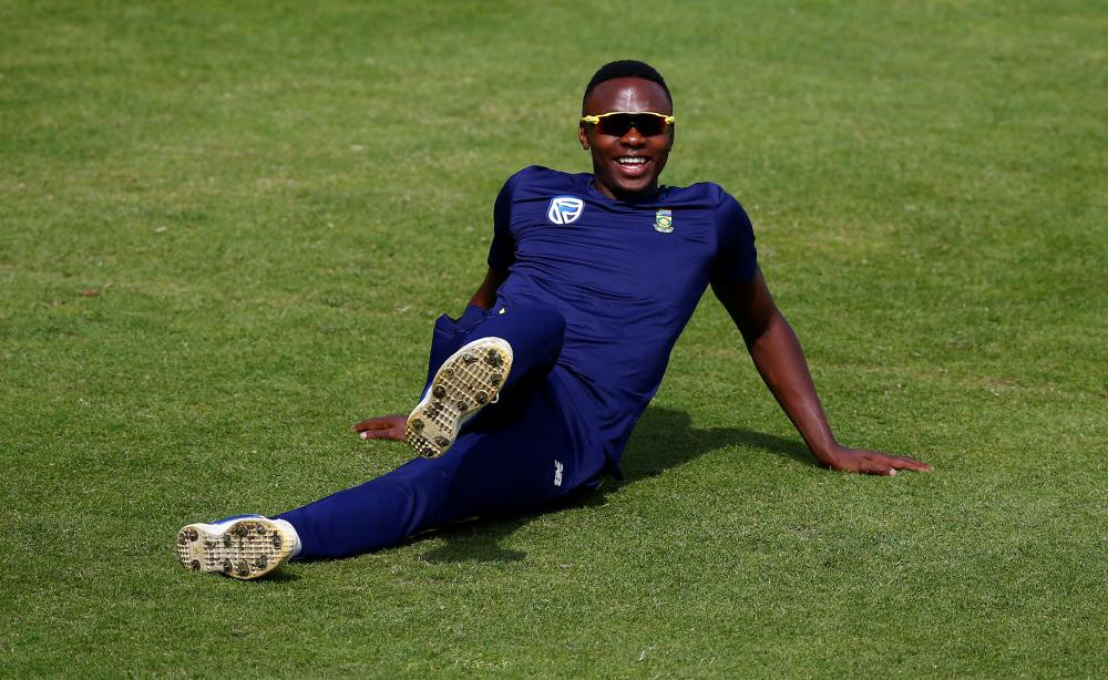 South Africa's Kagiso Rabada during nets. — Reuters