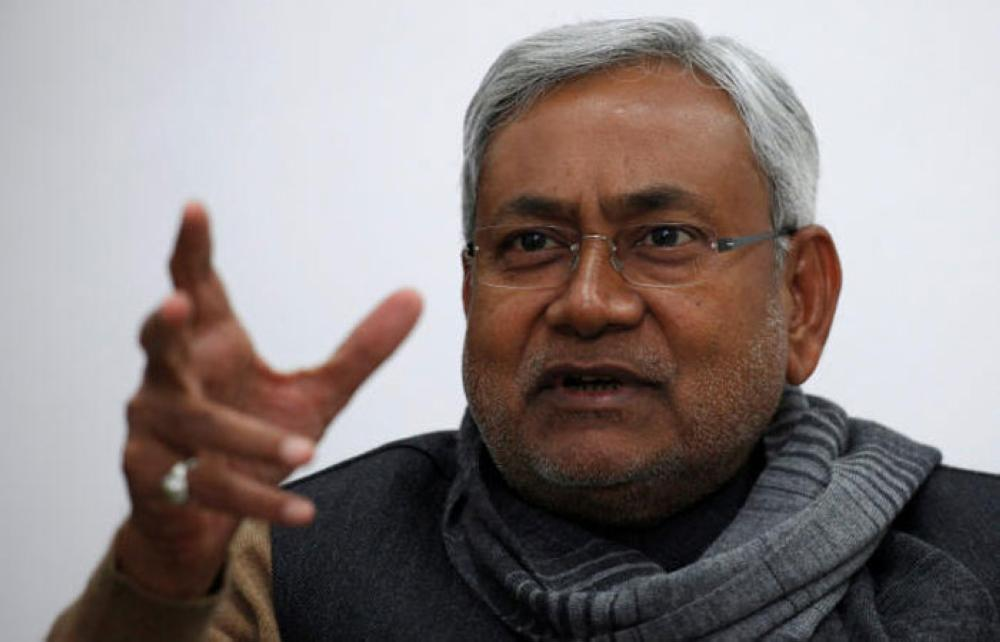 File Photo: Bihar's chief minister and leader of Janata Dal United party Nitish Kumar gestures during an interview with Reuters in Patna, India January 8, 2012. — Reuters