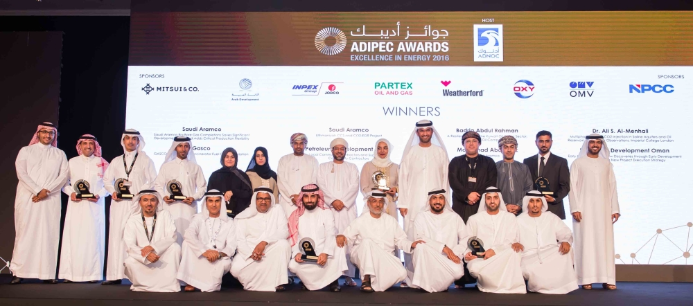 Winners of the Prestigious ADIPEC 2016 Awards