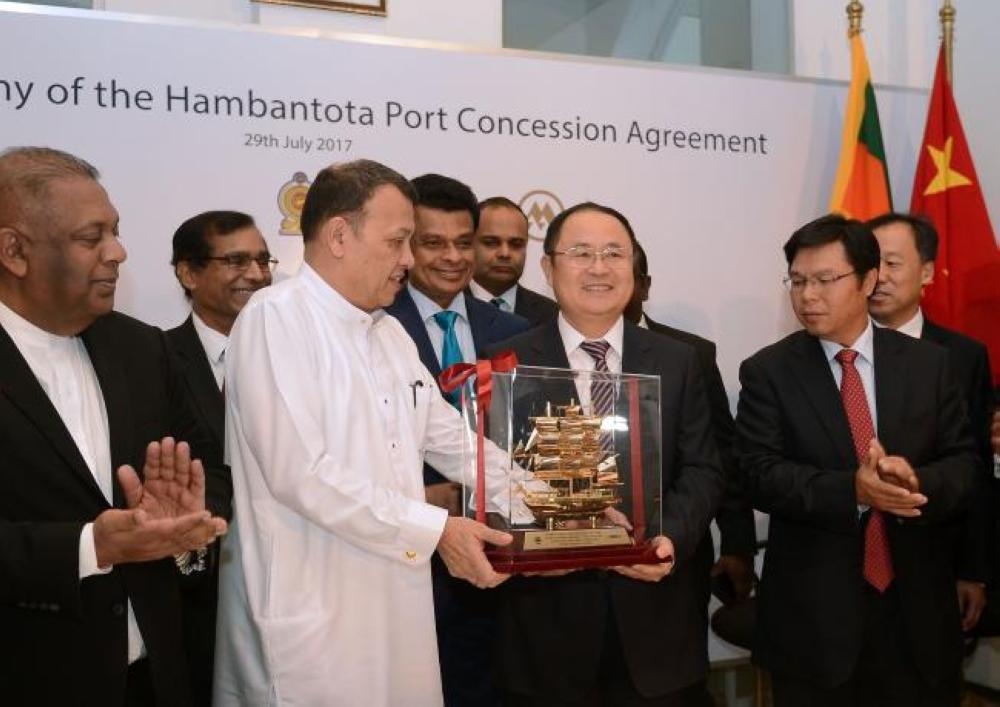 Sri Lanka, China sign long delayed $1.5 billion port deal