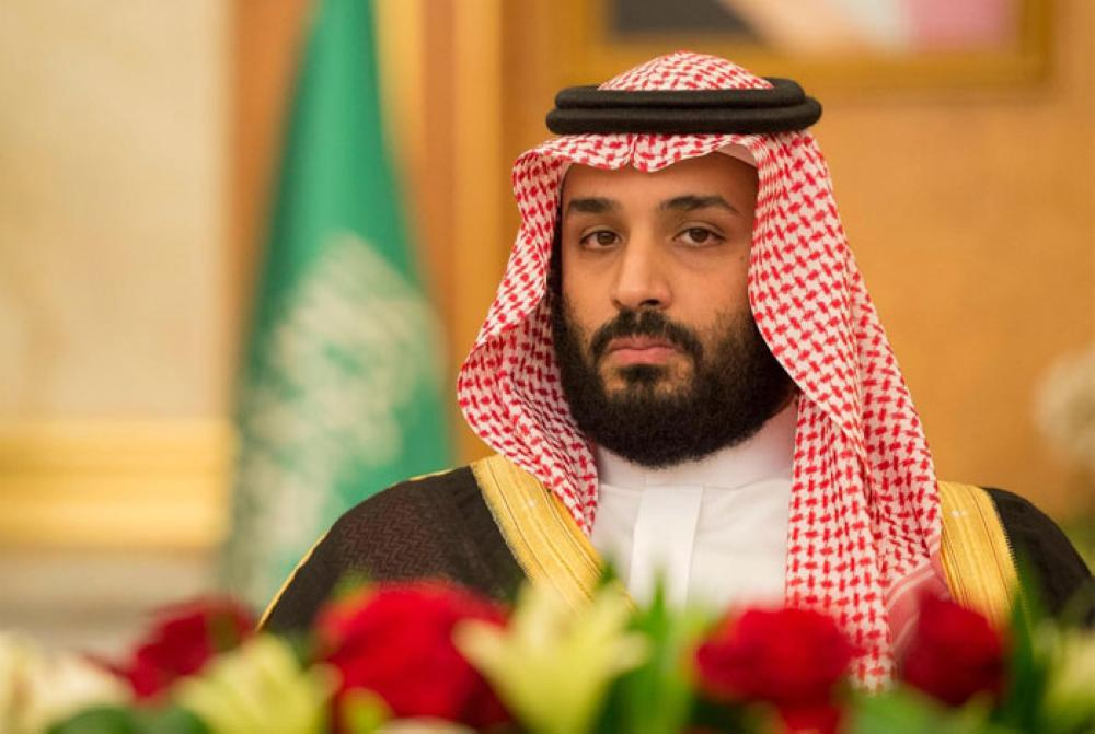 Crown Prince Muhammad Bin Salman, deputy premier and minister of defense, chairing the weekly session of the Council of Ministers at Al-Salam Palace in Jeddah on Monday - SPA