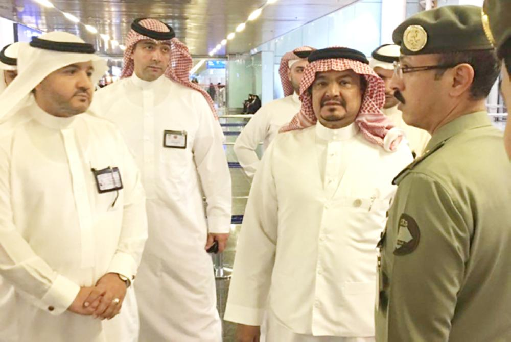 Minister of Haj and Umrah Muhammad Saleh Bantan at Prince Muhammad International Airport in Madinah on an inspection tour on Thursday. — SPA