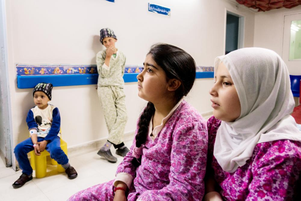 Young patients at Children's Hospital.