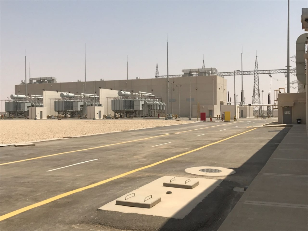 Central transmission station in Al-Kharj Industrial City