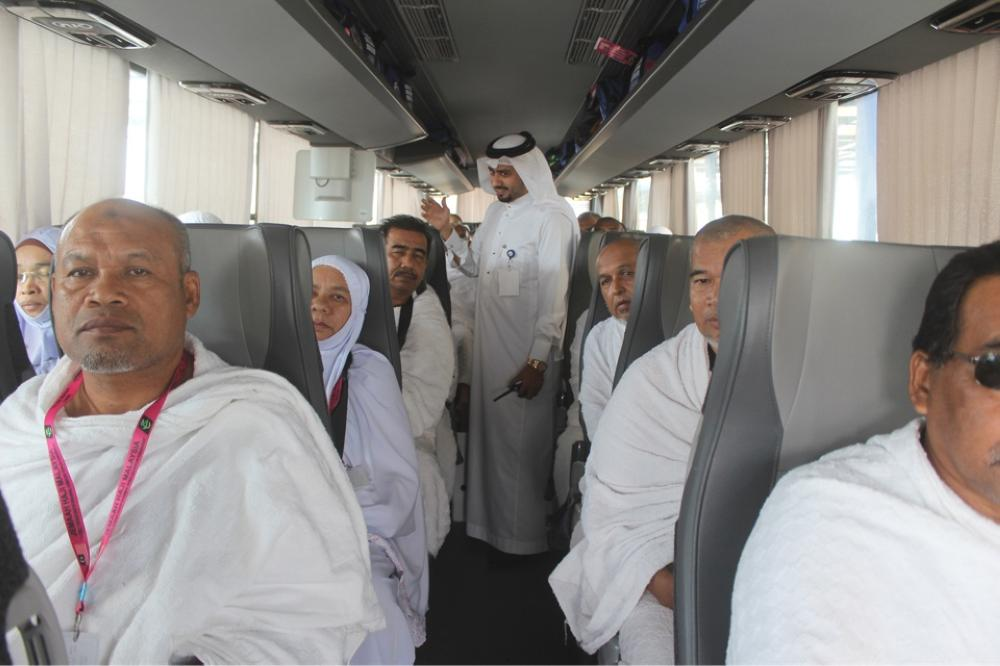 Buses carrying Haj pilgrims in operation. — Courtesy photo