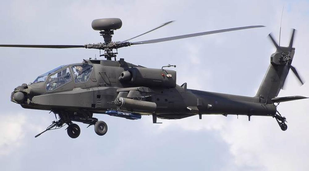 File photo of an Apache chopper.