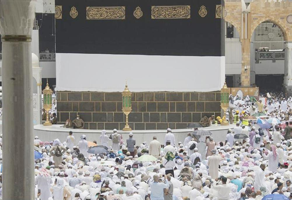 Worshipers in the Grand Mosque in Makkah for Friday noon prayers. — SPA photo