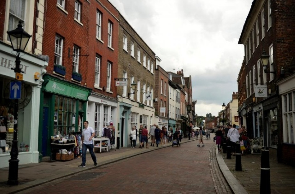 A general view of a high street in Rochester, Britain, in this file picture. — Reuters