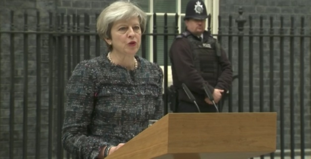 Prime Minister Theresa May, seen making a speech, is seen by many as going soft on implementing last year's decision to leave the European Union. — Reuters