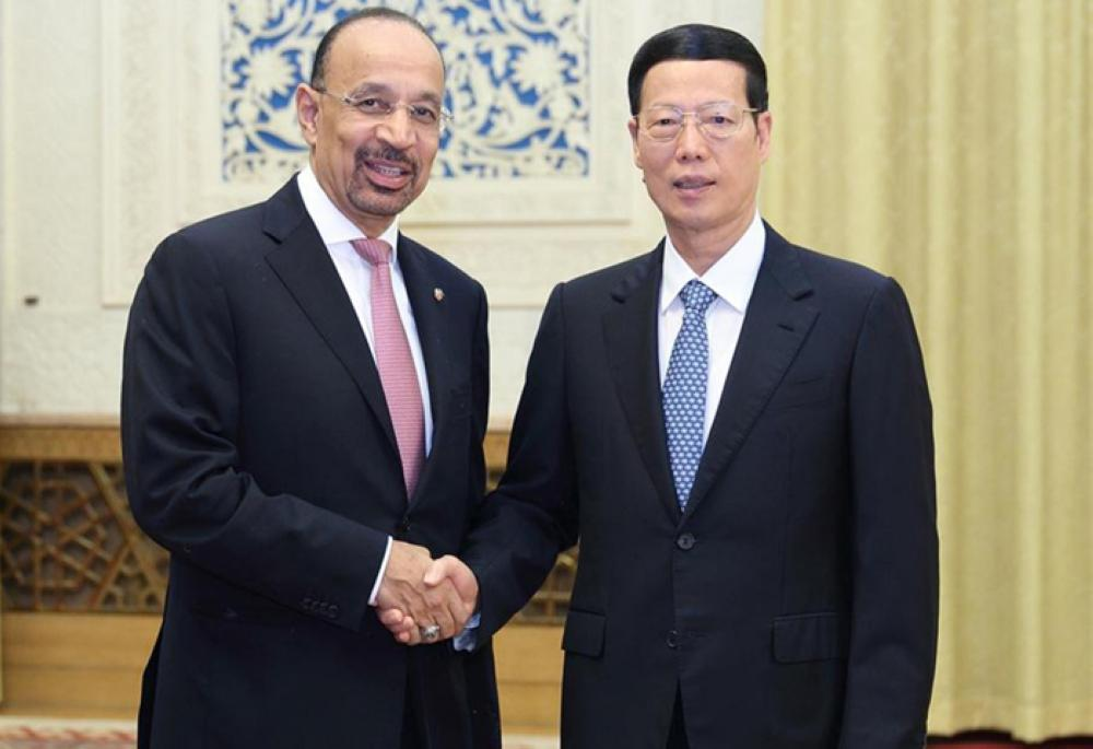 Khalid Al-Falih meets Chinese Senior Vice-Premier Zhang Gaoli in Beijing on Friday