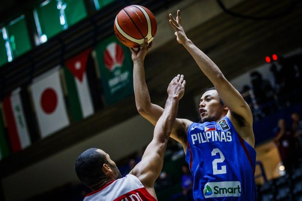 Gilas Pilipinas' Terrence Romeo fires a shot off a Jordanian defender in the 2017 Fiba Asia Cup at the Nouhad Nawfal Sports Complex in Beirut Sunday night.