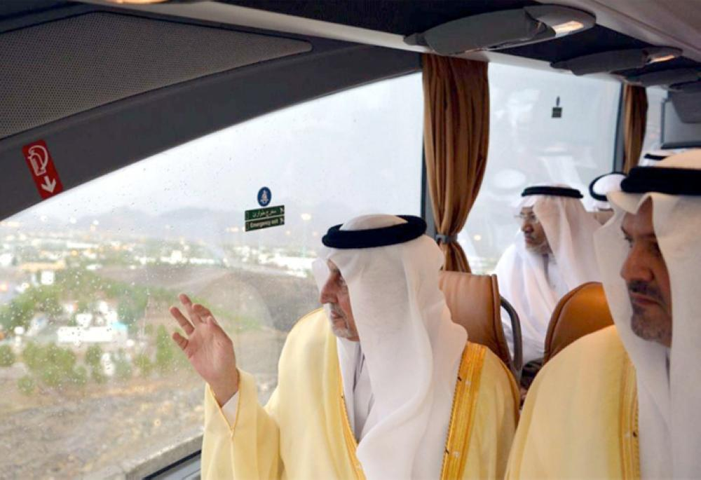 Prince Khaled Al-Faisal, emir of Makkah and advisor to Custodian of the Two Holy Mosques, makes an inspection tour of the Holy Sites on Monday – SPA
