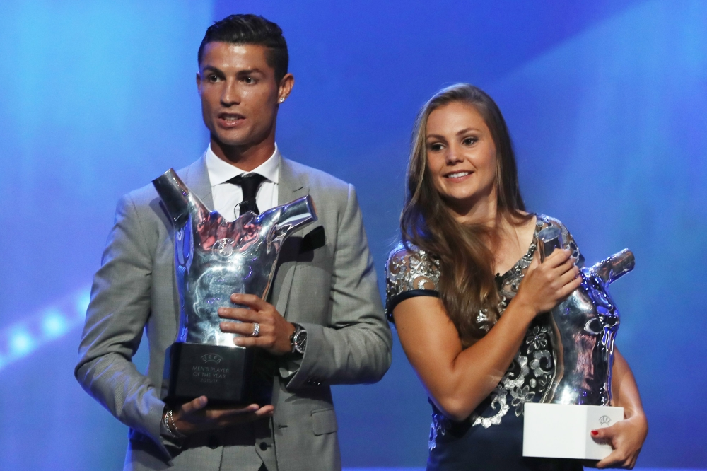 Ronaldo wins his third UEFA Player of the Year