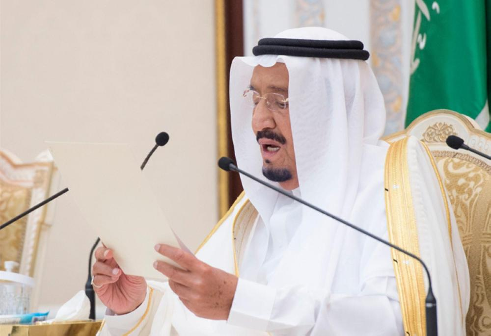 Custodian of the Two Holy Mosques King Salman during the reception at the Royal Court of Mina Palace on Friday –SPA