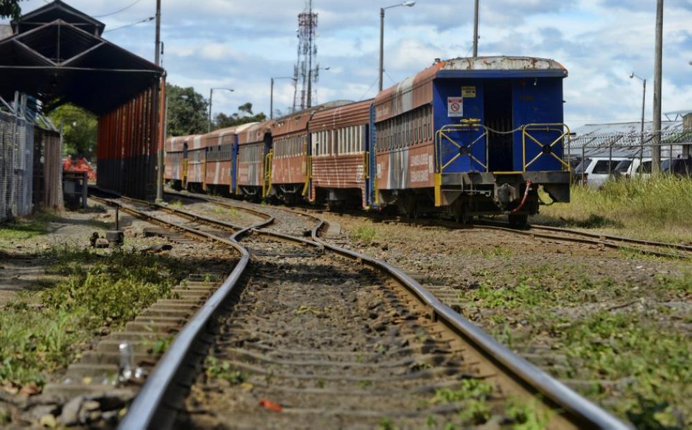 A train sits outside the Estación Atlántico in downtown San José, Costa Rica. —Lindsay Fendt/The Tico Times