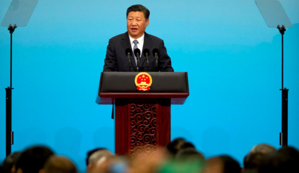 Chinese President Xi Jinping speaks during the opening ceremony of the BRICS Business Forum in Xiamen, China on Sunday. — Reuters