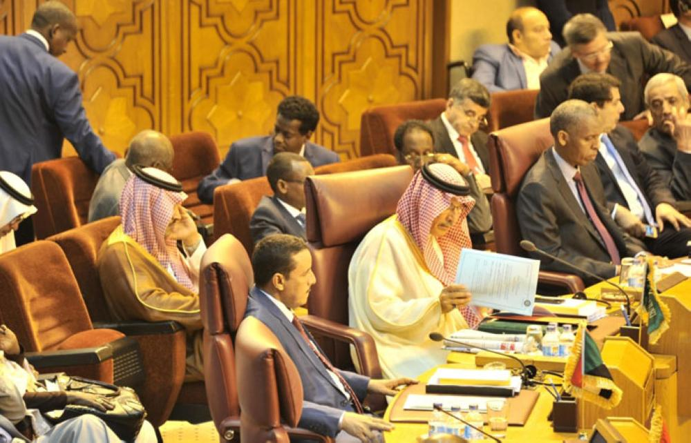Saudi Arabia's Ambassador to Egypt and Permanent Representative to the Arab League Ahmed Qattan attending the Arab League foreign ministers' meeting in Cairo on Tuesday -SPA