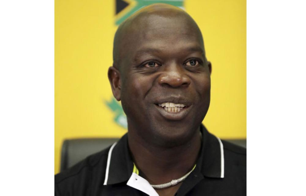 A newly appointed coach Ottis Gibson speaks during a media conference in Johannesburg, South Africa, Tuesday. Gibson was presented as South Africa's new cricket coach in Johannesburg on Tuesday, replacing Russell Domingo who did not have his contract renewed after their Test series defeat in England. — AP
