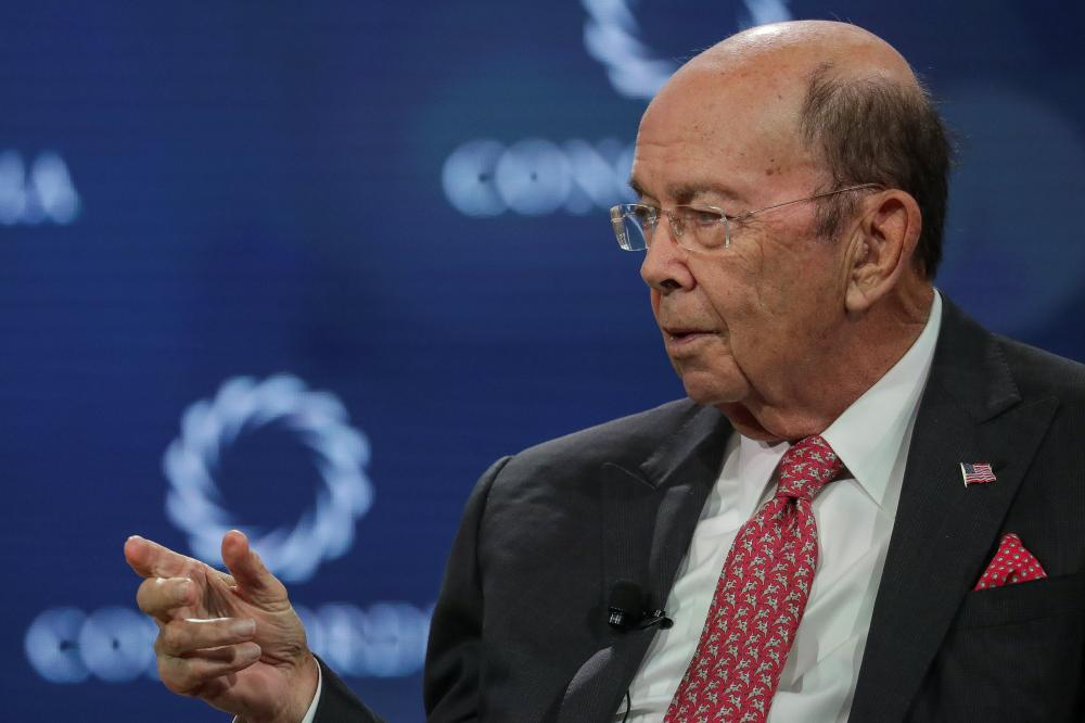 Wilbur Ross, Secretary of the US Department of Commerce, answers a question during the Concordia Summit in Manhattan, New York, US, on Tuesday. — Reuters