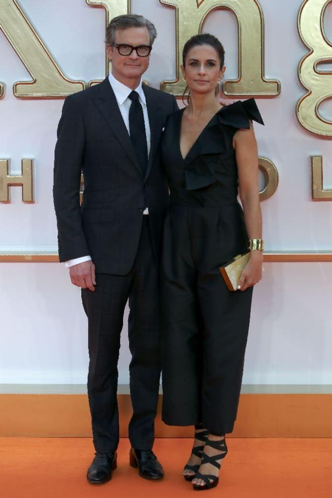 Colin Firth with his wife Livia Giuggioli