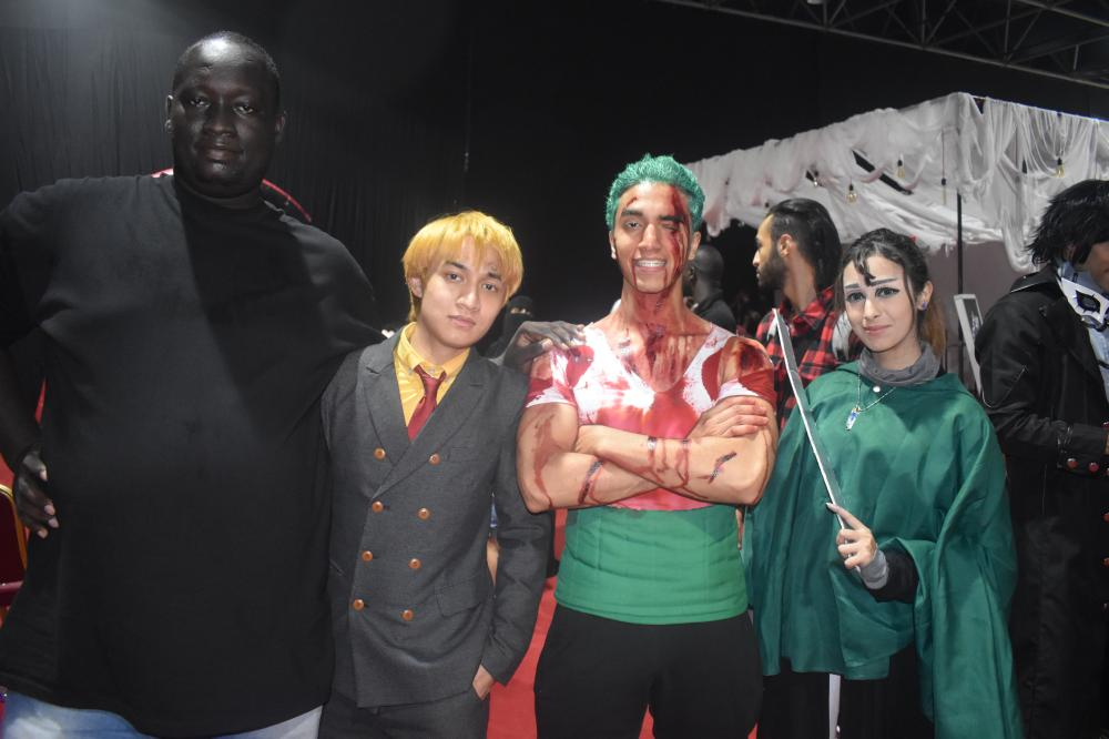 Local gamers attend Gamerscon dressed as their favorite video game characters in Jeddah.