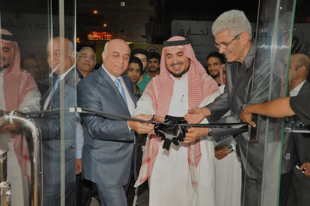 Ayman Kamil Tawfiq, assistant director general for Casio affairs in Mahmood Saleh Abbar Company, presides over the opening of 'Casio Store' at  Queen Building,  King Saud Street, Dammam City