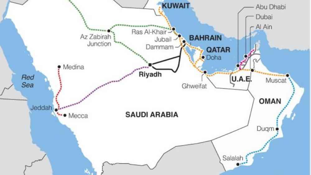 The railway project which extends at 2,117 kilometers and passes through 6 Gulf countries from Kuwait to Oman has met several technical difficulties. — File photo: Reuters