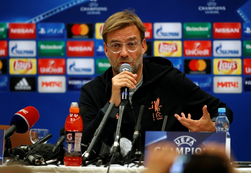 Liverpool manager Juergen Klopp during the press conference in Sheraton Airport Hotel, Moscow,. — Reuters