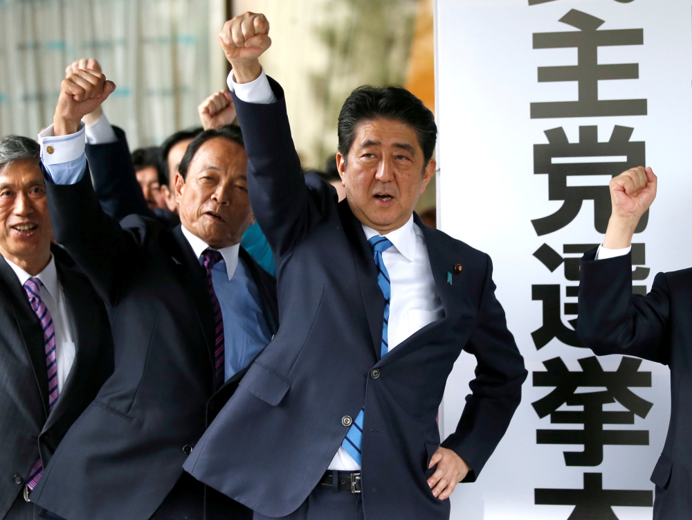 Shinzo Abe campaigns on North Korea threat in snap Japan election