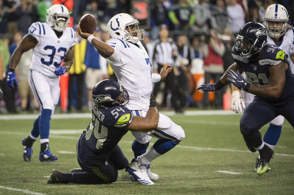 Seattle's defense kicked in high gear beating the Colts 46-18