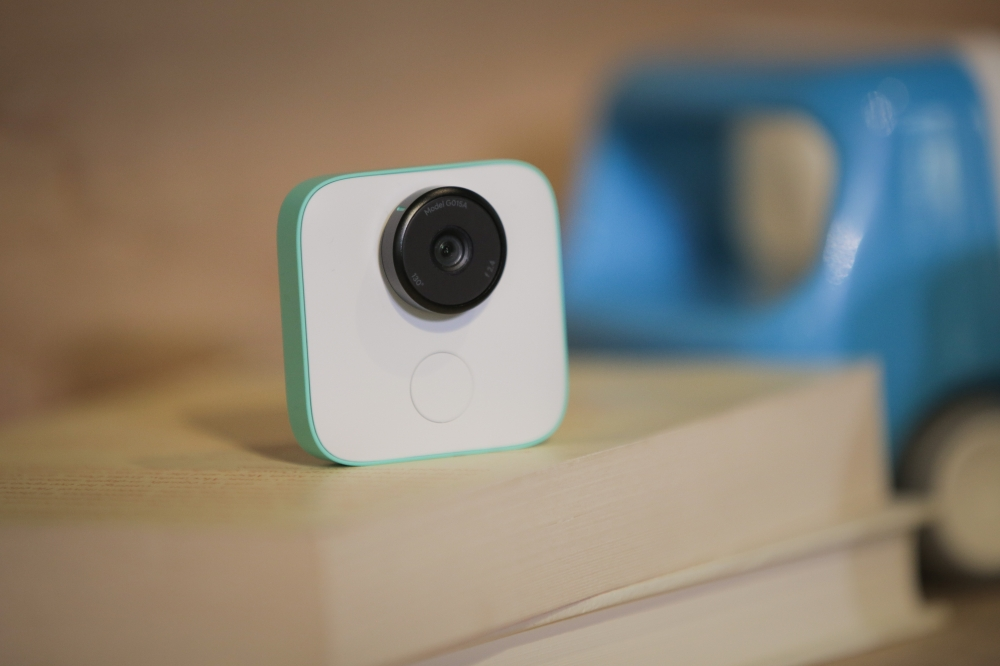 The new Google Clips wireless camera is seen at a product launch event at the SFJAZZ Center in San Francisco, California. Google unveiled newly designed versions of its Pixel smartphone, the highlight of a refreshed line of devices which are part of the tech giant's efforts to boost its presence against hardware rivals. — AFP