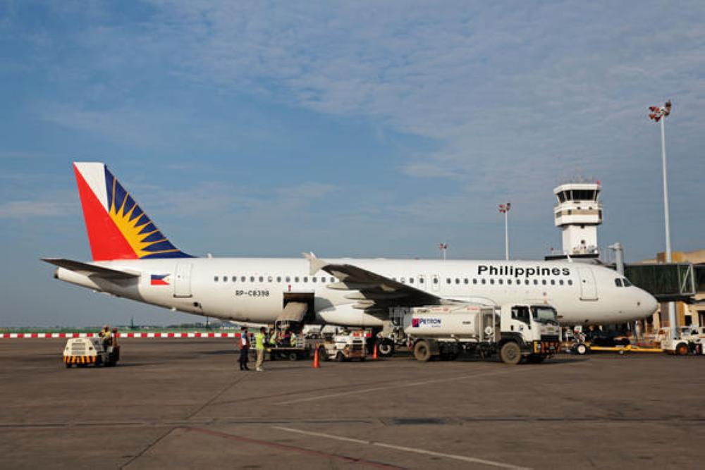 File photo shows a Philippine Airlines aircraft at Manila airport.