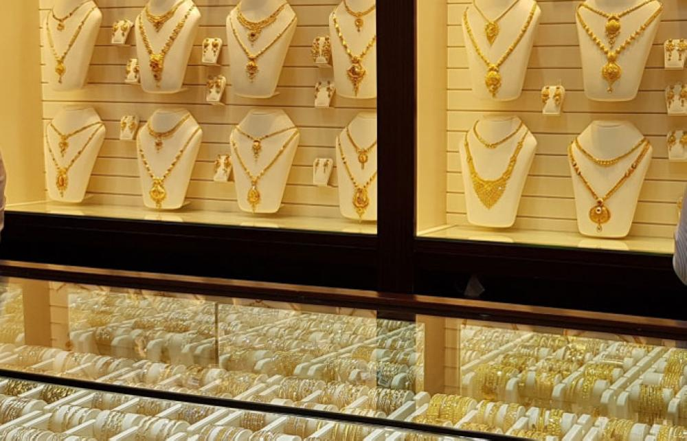 A relatively calm gold shop in Jeddah. — SG photo by Irfan Mohammed