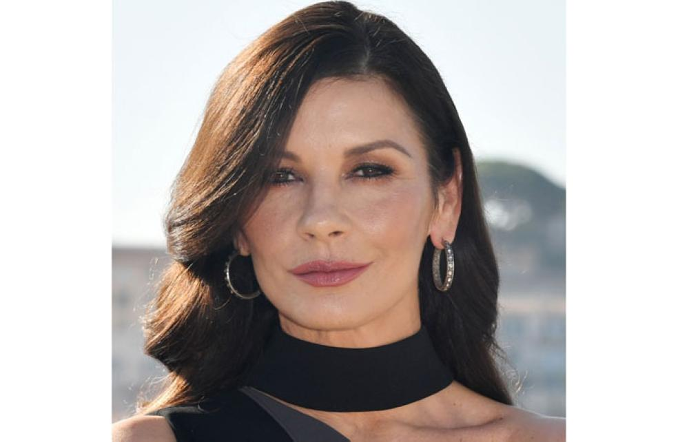 Actress Catherine Zeta-Jones for a photograph during the MIPCOM trade show in Cannes, southern France, on Tuesday. - AFP