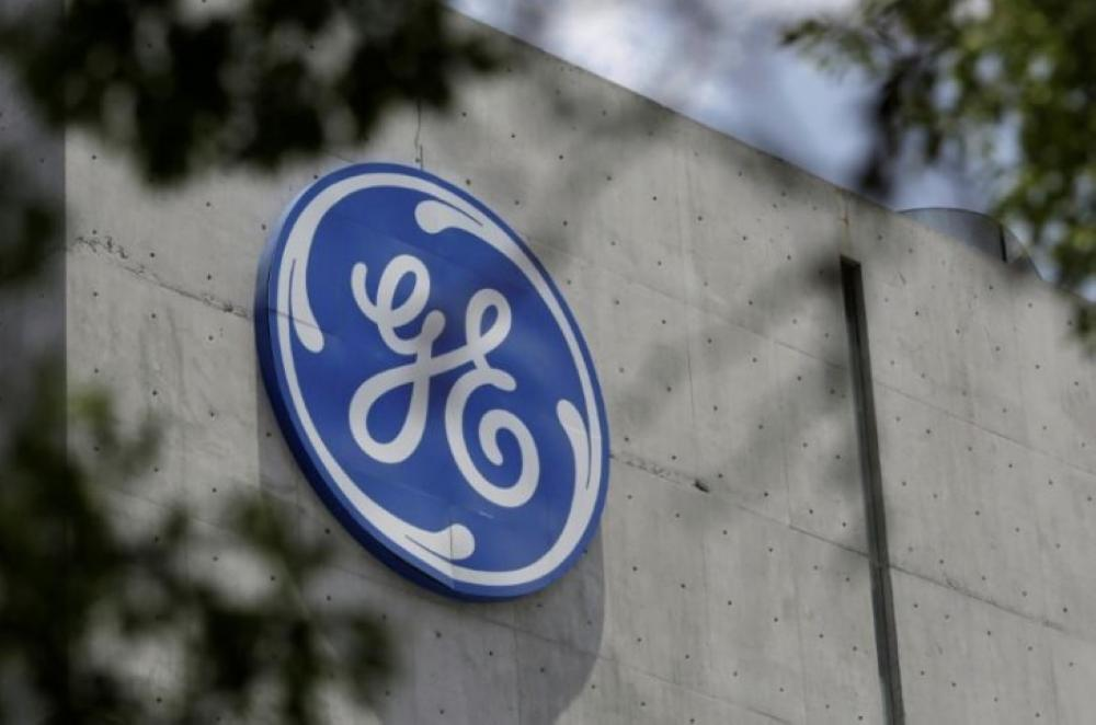 In this file photo, the logo of General Electric Co. is pictured at the Global Operations Center in San Pedro Garza Garcia, neighboring Monterrey, Mexico. — Reuters