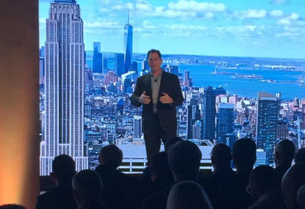 Micheal Dell delivering keynote during IOT Strategy Day in New York. — Courtesy photo