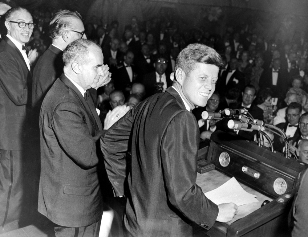 This May 14, 1960, file photo shows Democratic Nominee John F. Kennedy during his Presidential Campaign in New York City. US President Donald Trump said  he will allow long blocked secret files on the 1963 assassination of John F Kennedy to be opened to the public for the first time.The Nov. 22, 1963 assassination — an epochal event in modern US history — has spawned multiple theories challenging the official version that Kennedy was killed a lone gunman, Lee Harvey Oswald. — AFP