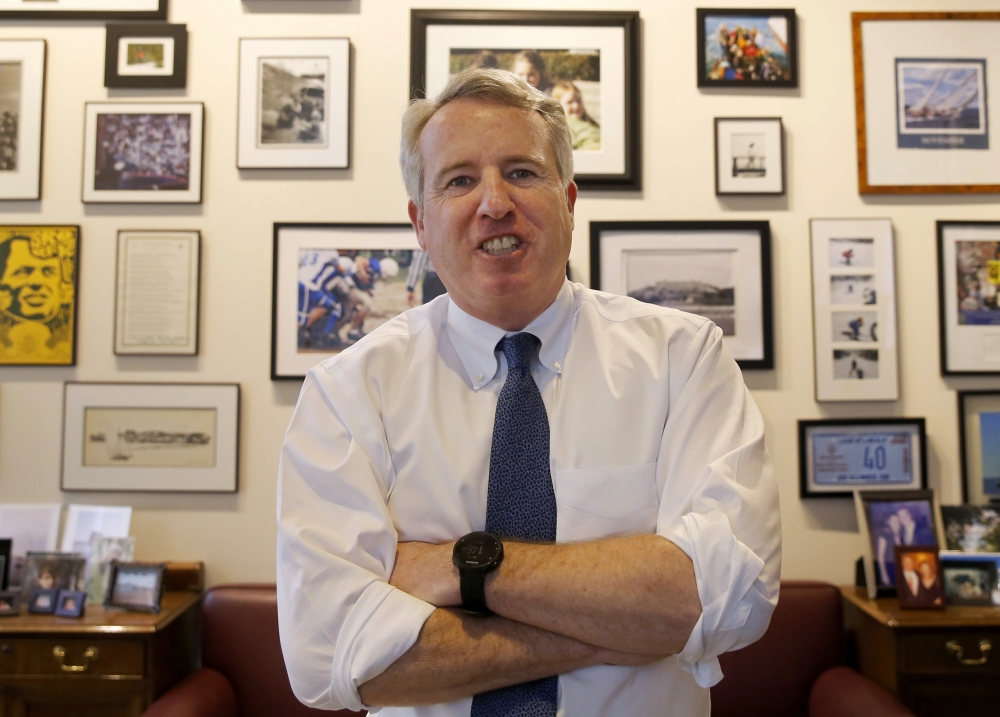 In this file photo, Chicago businessman and Democratic candidate for Illinois Gov. Chris Kennedy poses for a portrait in his office in Chicago. The 2018 Illinois governor's race is on pace to be the most expensive in US history, propelled by a wealthy Republican incumbent and a billionaire Democrat. J.B. Pritzker, one of the world's richest people, is among several Democrats trying to defeat multimillionaire Gov. Bruce Rauner. — AP