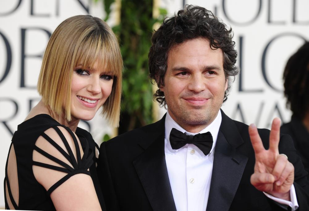 Actor Mark Ruffalo and his wife Sunrise Coigney.