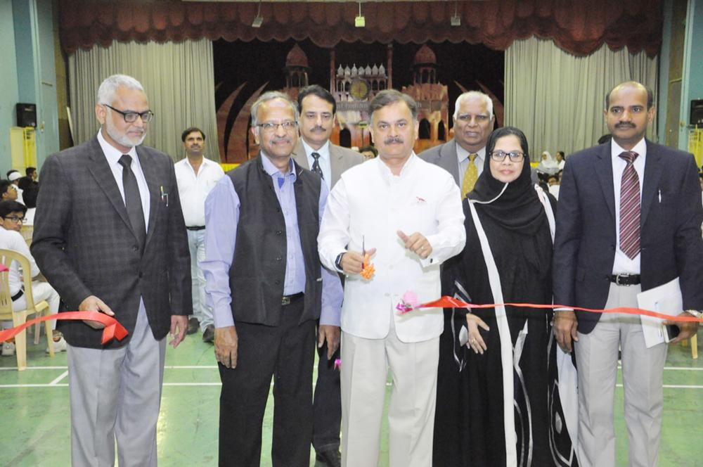 """Indian Ambassador Ahmad Javed inaugurating the tourism promotion event at IISR. Center, he releases an informative catalog titled """"Indo Saudi Architectural Heritage"""".  — Courtesy photos"""